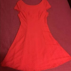 Bisou Bisou Red Fit And Flare Cute Dress Size 6